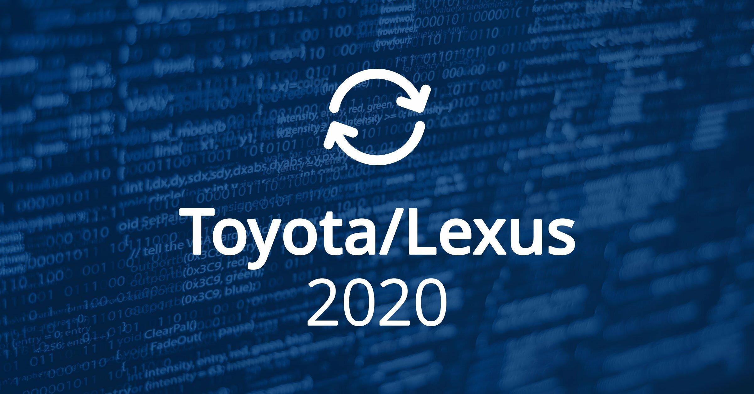 Toyota Lexus Software Updates 2020