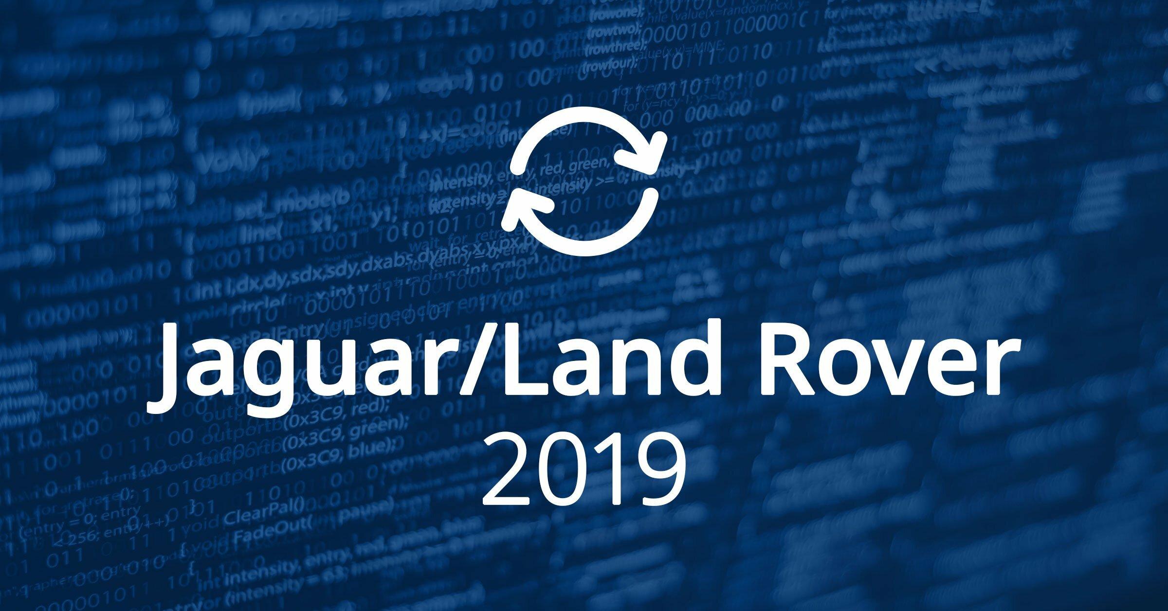 Jaguar Land Rover Software Updates 2019