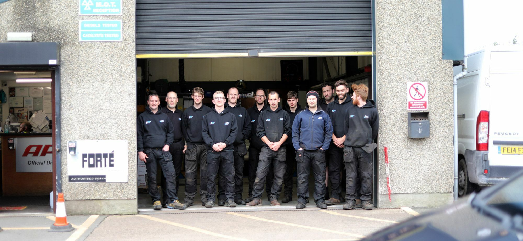 The team at Arywn's Garage