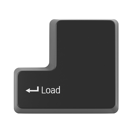 Keyboard enter key with load text