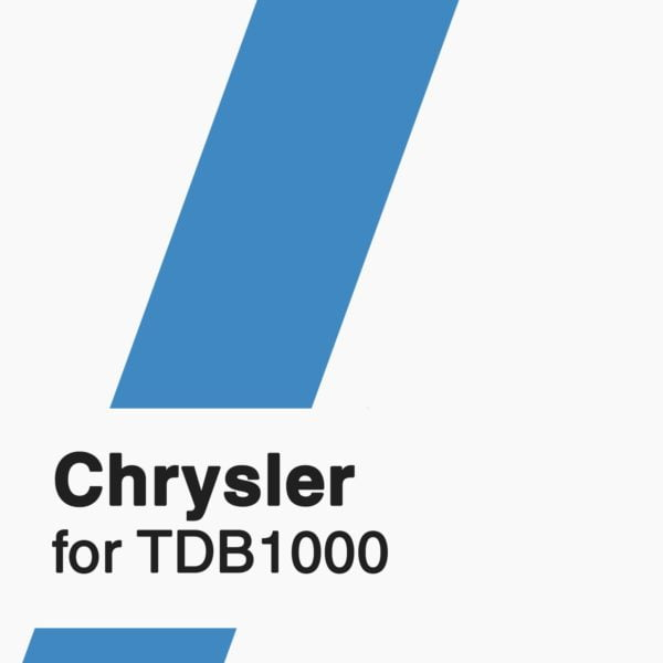 Chrysler Software for TDB1000 tool