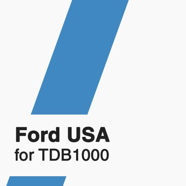 Ford USA Software for TDB1000 tool