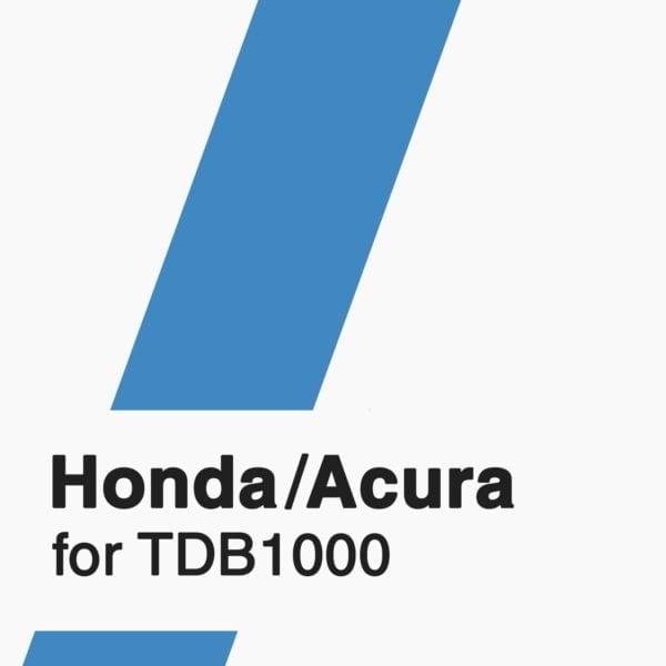 Honda/Acura Software for TDB1000 tool