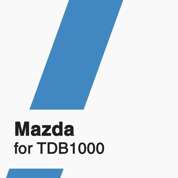 Mazda Software for TDB1000 tool