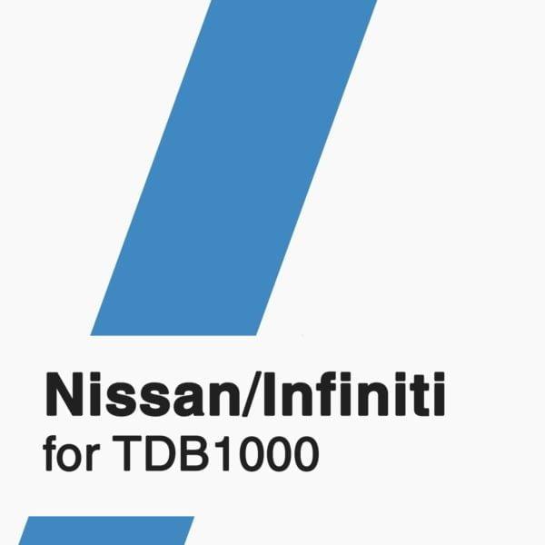 Nissan/Infiniti Software for TDB1000 tool