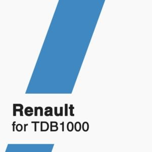 Renault Software for TDB1000 tool