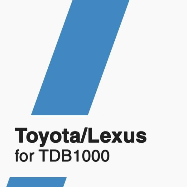 Toyota/Lexus Software for TDB1000 tool