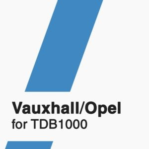 Vauxhall/Opel Software for TDB1000 tool