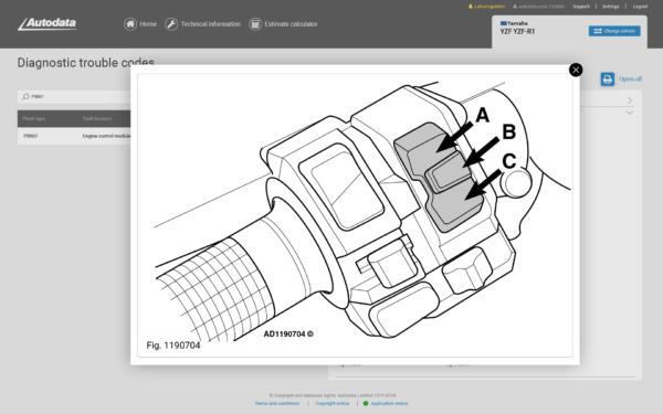 Autodata Motorcycle Screenshot Accessing Erasing Diagnostic Trouble Codes