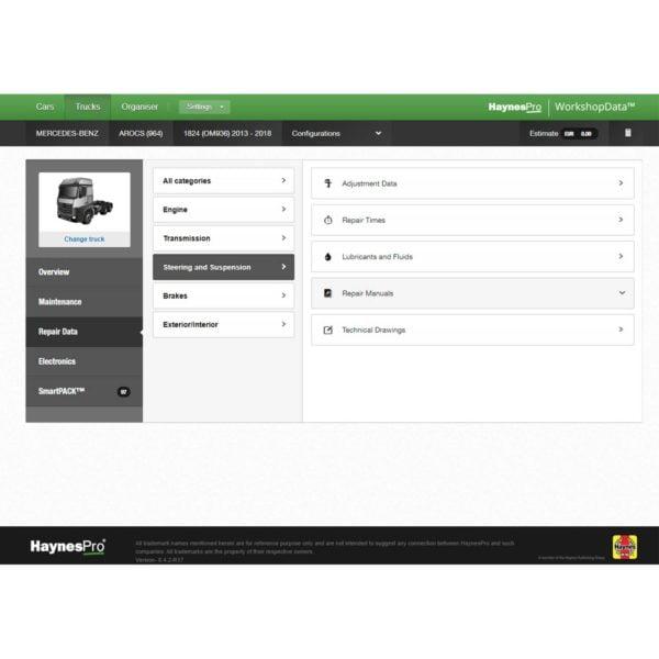 HaynesPro TruckSET repair data