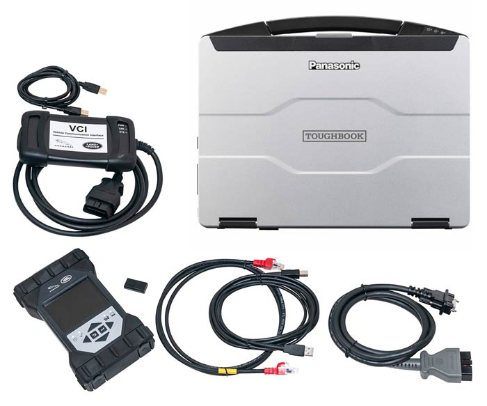 Jaguar Land Rover Pathfinder, VCI and Panasonic Toughbook CF-54 package