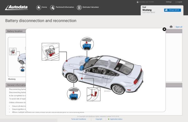 Autodata Car & Van Screenshot Battery Disconnection